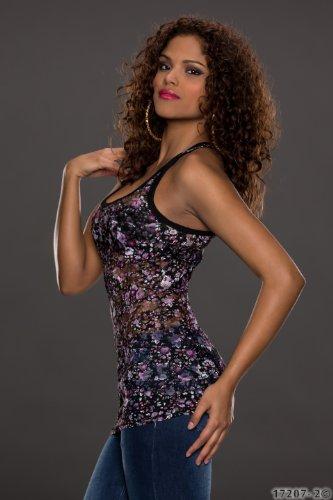 Fiori, estate, per feste Sexy, da donna, stile Casual, taglia unica, motivo floreale, 6, 8, 10, UE 34, 36, 38 cm Viola