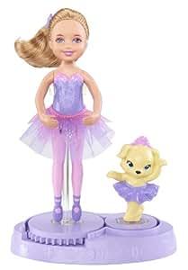 Barbie - X8818 - Mini-Poupée - Chelsea et son Chien en Tutu - Mauve