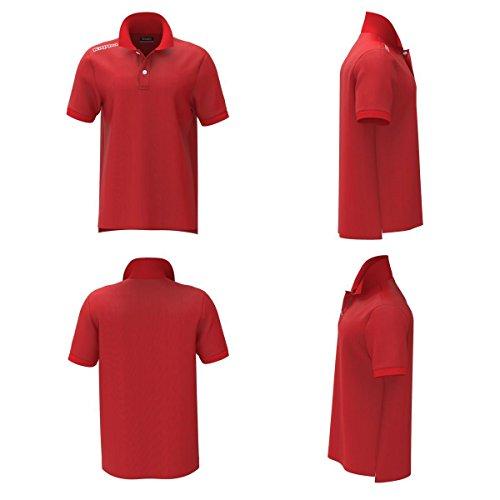 Kappa 301fg30 5 Herren Polo Moda Red Flame