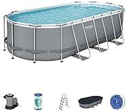 Bestway Power Steel Oval Pool Set 5.49X2.74X1.22