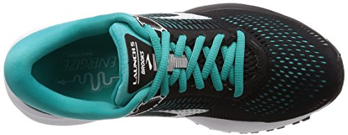 Brooks Launch 5, Scarpe da Running Donna Verde (Black/Teal Green/White 1B003)