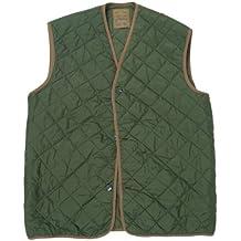 Verde del ejército británico con forro chaleco acolchado