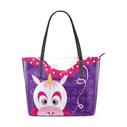 n Happy Birthday Fashion Leder Tote Schultertasche Handtasche für Frauen Mädchen ()