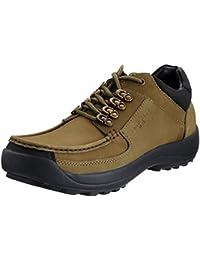 Franco Leone Men's Olive Leather Boots - 6 UK/India (40 EU)