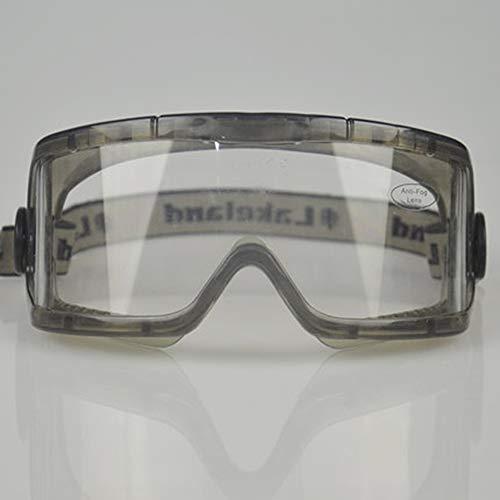 LTLCLZ Goggles Staubdicht Sand UV Transparent Auswirkungen Polieren Arbeit Versicherung Spritzbrille Motorrad Fahren