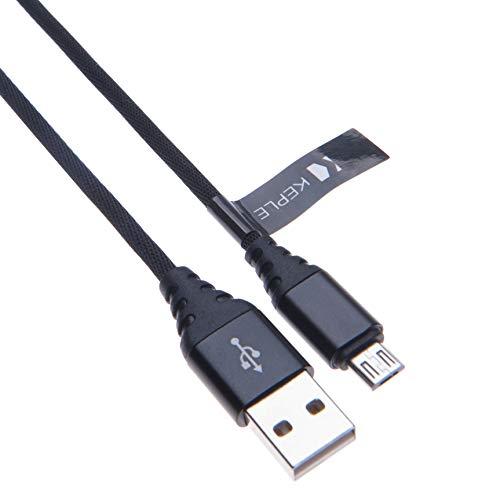 Micro USB Kabel Schnellladekabel Nylon geflochtenes Ladekabel Kompatibel mit Anker SoundCore, Mini, 2, Anker Ultra Pocket, Anker MP141, A7908, A3143 Premium, Anker Powercore 15600 (0.5m) 5-pocket-cord