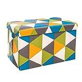 DHTOMC Sgabello Resto del Sedile Folding stoccaggio ottomano Panchina, Bagagli Petto poggiapiedi Sedile 60x36x36cm Multifunzione Chair (Color, Size : 60x36x36cm)