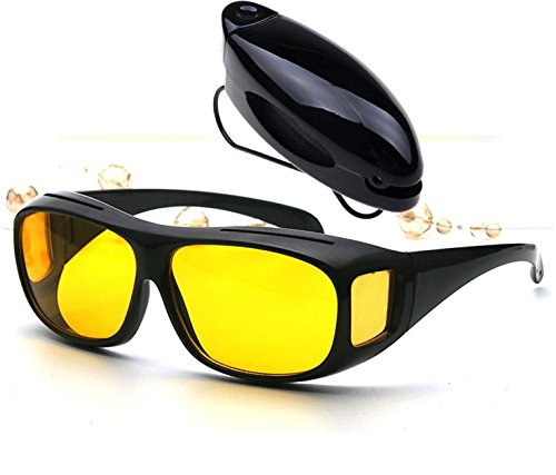 Saulmann Lunettes de contraste avec protection UV contre éblouissement et revêtement anti-reflets. -Lunettes anti-reflets avec haut renfort de contraste pour vision précise dans des conditions de lumière difficiles