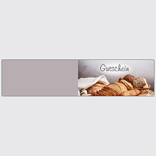 """Gutschein Bäckerei """"Sesamkorn"""" – Format: DIN Lang, 100 Stück"""