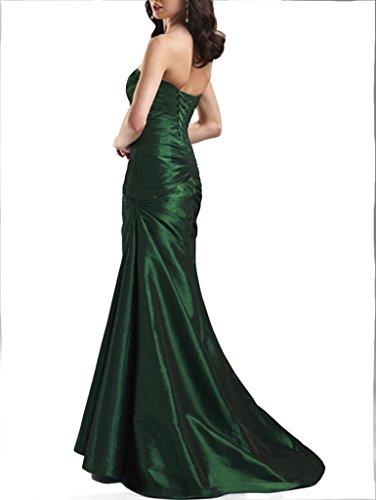 Emmani sexy Long lacé plissé sans manches NEUF Vert Violet Taffetas pour femme Homecoming Celebrity Bal fête soirée mariage Cocktail Femme femelle Clothings robes de bal robes Violet