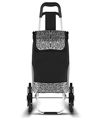 HIGHKAS Einkaufswagen-Einkaufsgepäck, das tragbaren kletternden stummen Edelstahl-kleinen Warenkorb-Laufkatzen-Lebensmittelgeschäft-Gebrauchswagen mit Rad faltet -