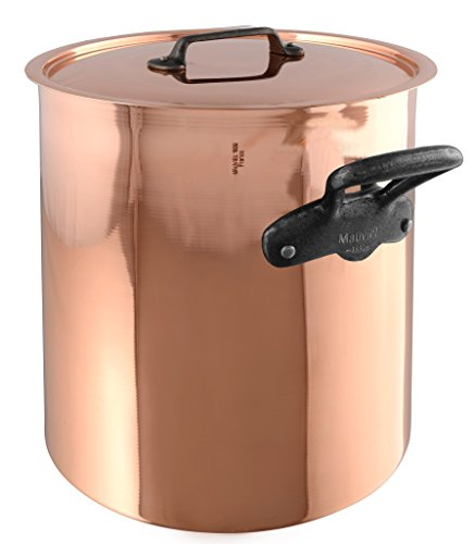 Mauviel M'Heritage M150C 6482.25 Copper Tinned Lined Stockpot with Lid. 11L/11.2 quart 24 cm/9.5