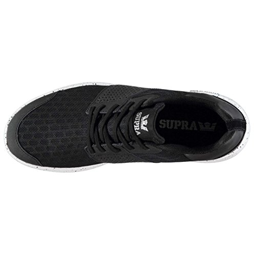 Supra Scissor Homme Chaussures Baskets À Lacets Sneakers Sport Gym Running Noir/Blanc