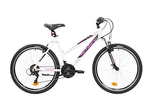 F.lli Schiano Range, Bici MTB Women's, Bianco-Rosa, 26''