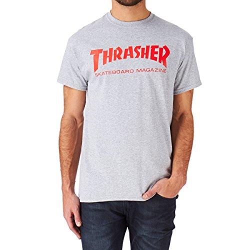 Thrasher T-shirts - Thrasher Skate Mag Logo T-s... Grey Mottled