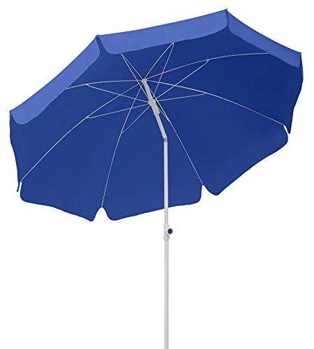 Schneider Sonnenschirm Ibiza, blau, 200 cm rund, Gestell Stahl, Bespannung Polyester, 2.1 kg
