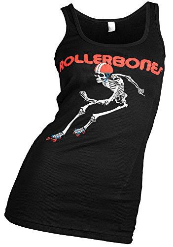 Rollerbones Damen Derby Derby Räder Skelett Tank Top schwarz