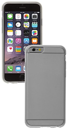 "Caseit Custodia Flexi TPU per iPhone 6, 4,7"", Nero Satinato Trasparente"