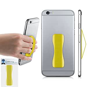 Yellow Case Compatible Anti-Static Finger Elastic Grip Holder with Strong Adhesive For Samsung W880 Amoled 12M