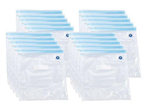 Rosenstein & Söhne Vacuumbeutel: 20er-Mega-Pack Vakuumierbeutel, je 34 x 30 cm (Vakuumbeutel mit Ventil) -