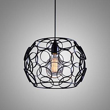 E27 220V 28*21cm 5-10?creativos nórdicos contratada, hierro forjado, vidrio, única cabeza DroplightLamp luz LED