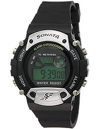 Sonata Super Fibre Digital Grey Dial Men's Watch -NK7982PP02