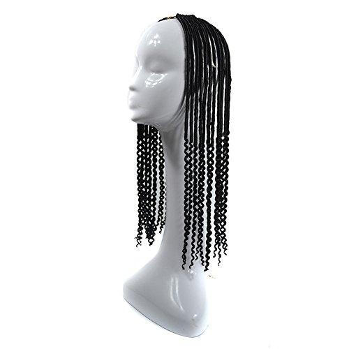 Perruques de tresses synthétiques pour cheveux synthétiques résistants à la chaleur pour femmes