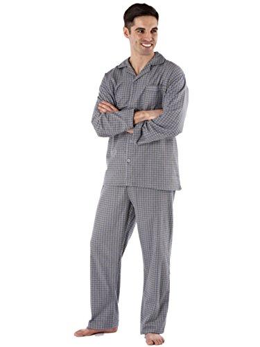 Mens gebürsteter Baumwolle Diamond Spot gemütlich im Winter Schlafanzug (XXL -Grau) -