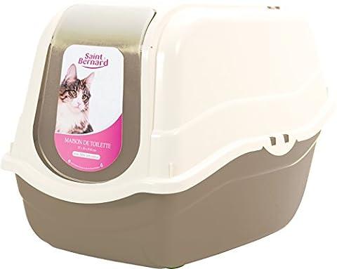 SAINT BERNARD Maison de Toilette pour Chat Taupe