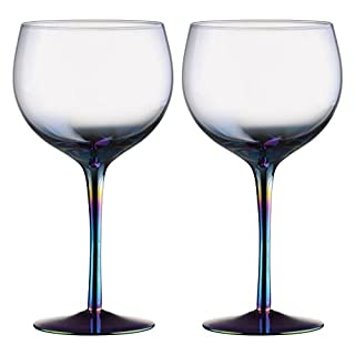 Artland Mirage Lustre Iridescent Balloon Gin Copa Cocktail Glass Glasses Set of 2 70cl