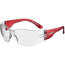 voltX 'GRAFTER' (TRANSPARENTES dioptría +1.0) Lentes de lectura de seguridad industrial bifocales, Certificado CE EN166F / Gafas de Ciclismo – Safety Reading Glasses