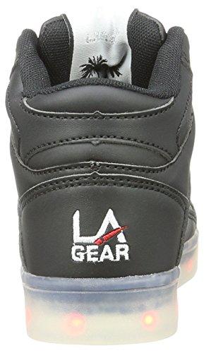L.A. Gear Flo Lights, Chaussons montants mixte enfant Schwarz (black wht outsole)