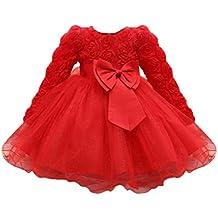 Abito Vestito Floreale Bambino Ragazza Bowknot Festa di carnevale Principessa damigella d'onore Pageant toga Compleanno Bambine e ragazze Nozze gonna Baby Girl's Dress