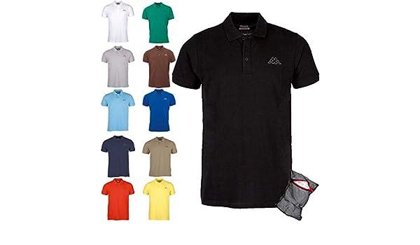 Kappa Polo Uomo Ziatec Edizione con Pratica Rete da 1 a 6 Confezioni Disponibile in Vari Colori