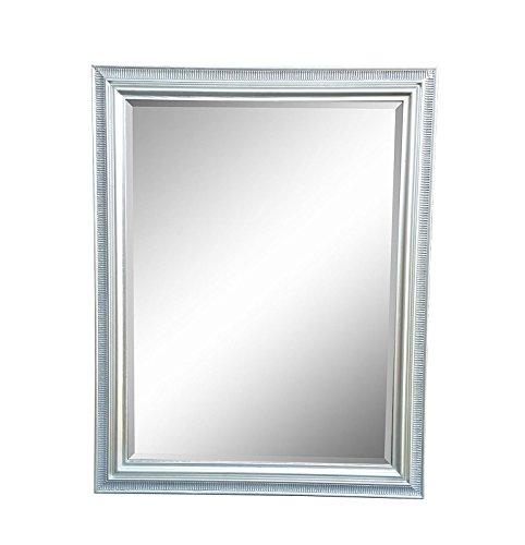 Specchio da parete con cornice in legno e taglio sfaccettato ...