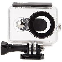 JZK® Soporte profundidad 40m carcasa impermeable con tornillo y adaptador para Xiaomi Yi acción cámara 16MP 4608x3456 1920x1080p cámara 1 Generación, Negro