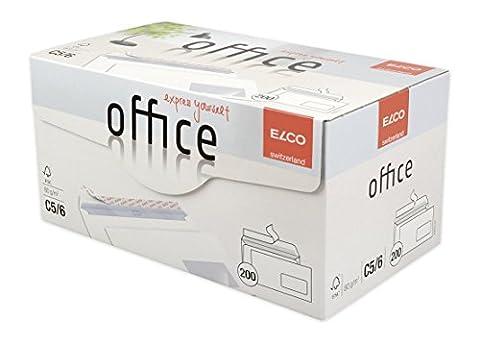 Elco 74533-12 Boite de 200 enveloppes avec fenêtre Format C5/6