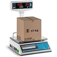 TEM Balanza comercial con pantalla LED superior TEL015B1D-V2-B1 (calibrada, 6