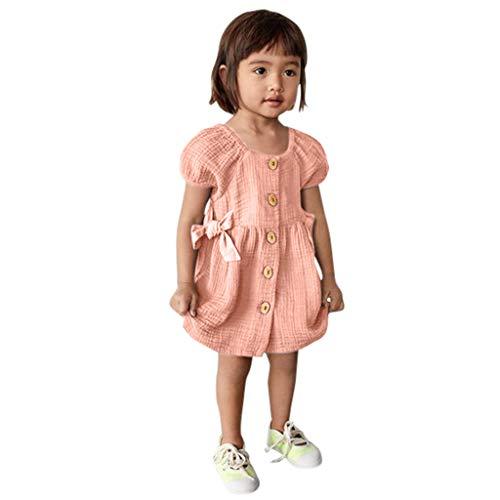 Winkey Mädchenrock, Beiläufige Druckknopfprinzessin Kleidkleidung der Säuglingsmädchenkurzschluss Sleeved Normallackart und Weise -