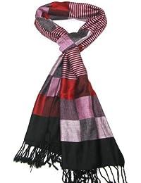 Lovarzi - Hermosa bufanda - chal - cuadros y rayas - bufanda para mujer