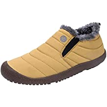 QUICKLYLY Botas para Hombre Calzado De Protección Zapatos Antideslizantes para De Terciopelo Y Algodón Cálido para