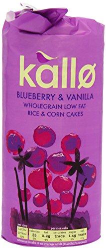 Kallo - Blueberry & Vanilla Rice and Corn Cakes - 131g