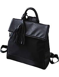 Kronya®   Elegante Handtasche und Rucksack aus Leder   Arbeit Büro Clutch Damen Damenhandtasche Damentasche Henkeltasche Schule Schulrucksack Schultasche Schultertasche Tasche Umhängetasche