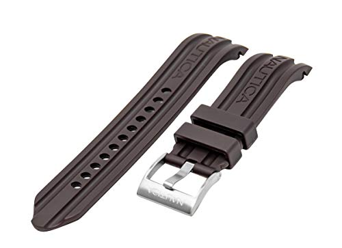 Nautica Men's N15605G BFD 100 Multi-Function Brown 24mm Replacement Band | Strap