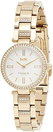 Coach Womens Quartz Watch, Analog Display And Stainless Steel Strap 14503098, Gold