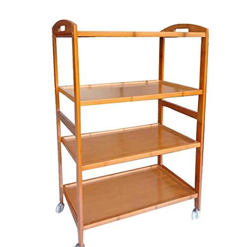 S-AIM 3-Tier Küche Utility Cart Vintage Rolling Bakers Rack, abschließbare Caster Küchenwagen Inseln, einfache Montage für Bad, Küche, Büro