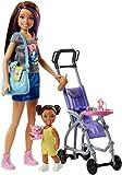Barbie FJB00 Skipper Babysitters Puppen und Kinderwagen Spielset