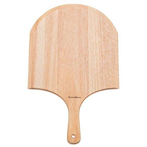 GreenMore gomma legno Pizza Peel, Pagaia F?R forno Home Made Pizza e pane, Ideal F?R K?Se Board, Piatto da portata, salumi Board, Legno, 47.5CM X 30.5CM X 1.5CM