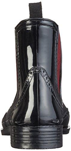 Mustang 3121-501, Bottes de Pluie Femme Noir (95 schwarz/rot)