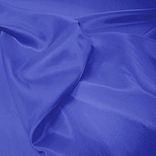 TOLKO® Meterware   Futterstoff/Deko-Stoff zum Nähen - Leicht, Halb-Durchsichtig aus Polyester (Royal-Blau)